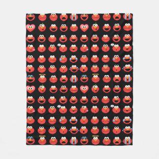 Elmo Emoji Pattern Fleece Blanket
