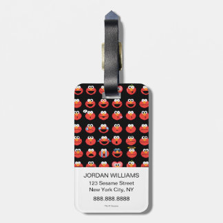 Elmo Emoji Pattern Luggage Tag