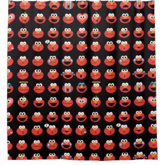 Elmo Emoji Pattern Shower Curtain
