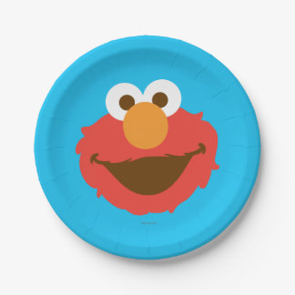 Elmo Face 7 Inch Paper Plate