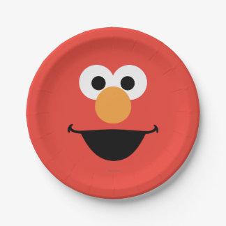 Elmo Face Art 7 Inch Paper Plate