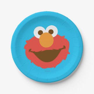 Elmo Face Paper Plate