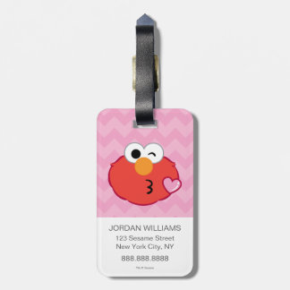 Elmo Face Throwing a Kiss 2 Luggage Tag