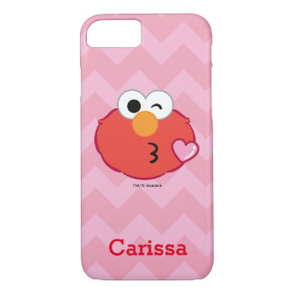 Elmo Face Throwing a Kiss | Add Your Name iPhone 8/7 Case