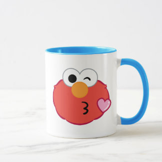 Elmo Face Throwing a Kiss Mug