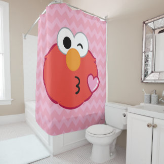 Elmo Face Throwing a Kiss Shower Curtain
