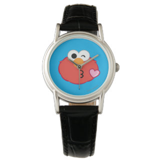 Elmo Face Throwing a Kiss Wristwatches