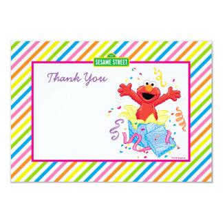 Elmo Girl's Birthday 9 Cm X 13 Cm Invitation Card