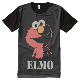 Elmo Half All-Over Print T-Shirt