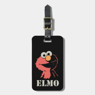 Elmo Half Luggage Tag