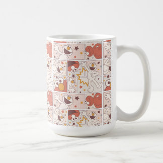 Elmo | Happy Little Monster Comic Pattern Coffee Mug