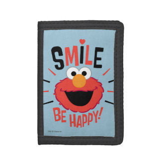 Elmo Happy Smile Tri-fold Wallets