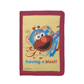 Elmo - Having A Blast! Tri-fold Wallet