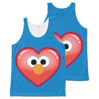 Elmo Heart All-Over Print Tank Top