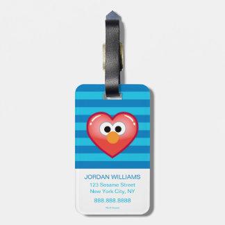 Elmo Heart Luggage Tag
