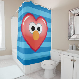 Elmo Heart Shower Curtain