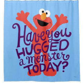 Elmo Hugging Shower Curtain