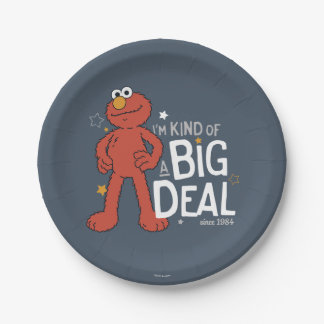 Elmo | I'm Kind of a Big Deal 7 Inch Paper Plate