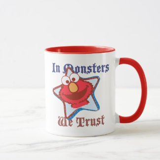 Elmo - In Monsters We Trust Mug