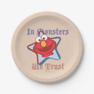 Elmo - In Monsters We Trust Paper Plate