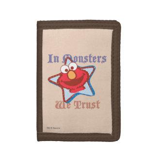 Elmo - In Monsters We Trust Tri-fold Wallet