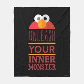 Elmo Inner Monster Fleece Blanket