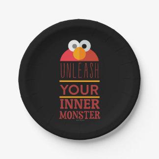 Elmo Inner Monster Paper Plate