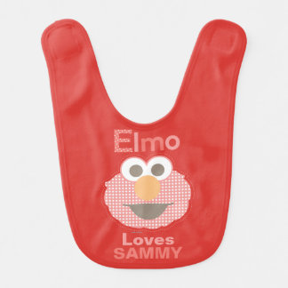 Elmo Loves You | Add Your Name Bib