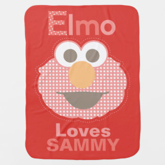 Elmo Loves You | Add Your Name Receiving Blanket