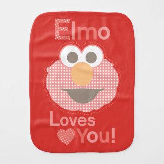 Elmo Loves You Burp Cloth