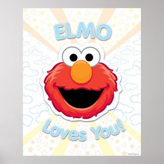 Elmo Loves You Poster