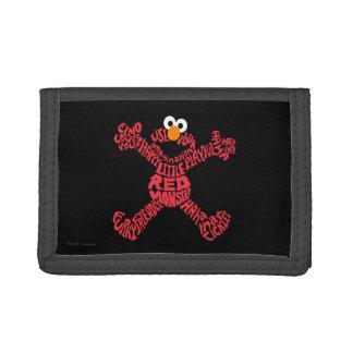 Elmo Pattern Fill Trifold Wallet