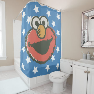 Elmo Retro Shower Curtain