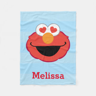 Elmo Smiling Face | Add Your Name Fleece Blanket