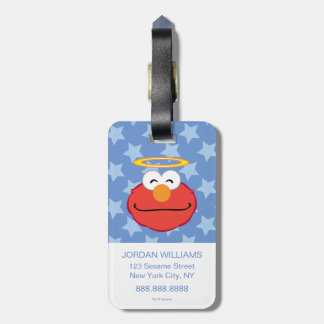 Elmo Smiling Face with Halo Bag Tag