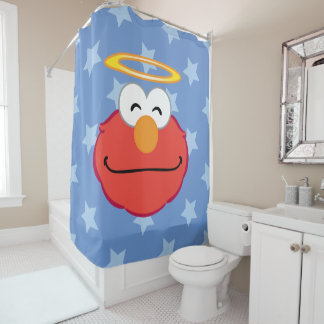 Elmo Smiling Face with Halo Shower Curtain