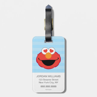 Elmo Smiling Face with Heart-Shaped Eyes Bag Tag