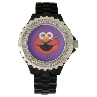 Elmo Smiling Face with Heart-Shaped Eyes Watch