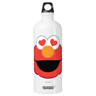 Elmo Smiling Face with Heart-Shaped Eyes Water Bottle
