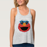 Elmo  Smiling Face with Sunglasses Flowy Racerback Tank Top