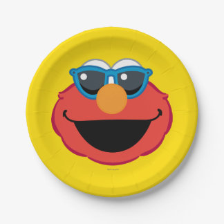 Elmo  Smiling Face with Sunglasses Paper Plate