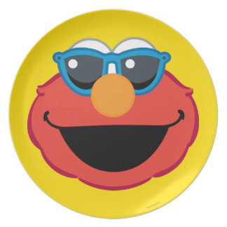 Elmo  Smiling Face with Sunglasses Plate