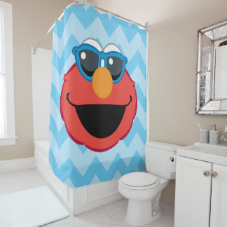 Elmo  Smiling Face with Sunglasses Shower Curtain