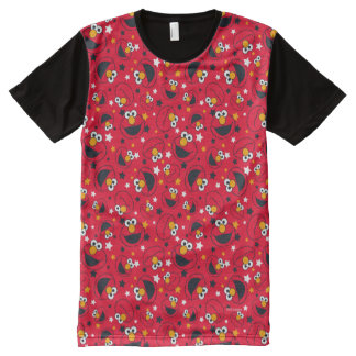 Elmo | So Silly Star Pattern All-Over Print T-Shirt