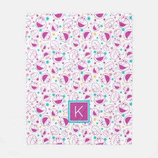 Elmo | Sweet & Cute Star Pattern | Monogram Fleece Blanket
