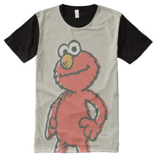 Elmo Vintage All-Over Print T-Shirt