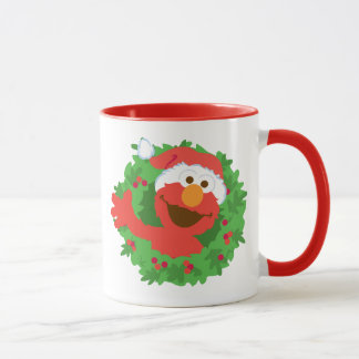 Elmo Wreath Mug