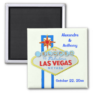 Eloped to Las Vegas Square Magnet