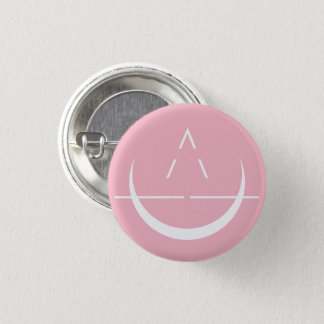 ELOSIN Moon Symbol Pink Button