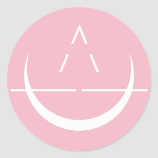ELOSIN Moon Symbol Pink Sticker 6-Pack